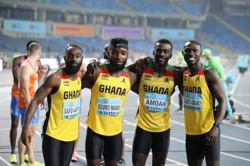 Ghana 4×100m Relay Team Qualify To Final Set National Record (Video)